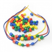 Bead Stringing 4shapes/4colours/5ea