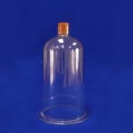 Bell Jar 150mm x  26cm Plastic + Stopper
